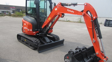 Location mini pelle KUBOTA U27-4 Amiens 137 €