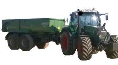 Location Tracteur-benne John Deere Querrieu 220€