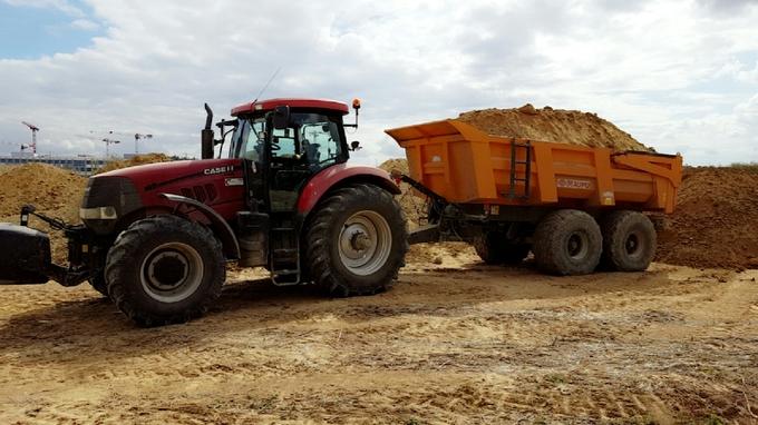 Location Tracteur-benne TP MASSEY FERGUSON Vesly 430€