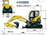 Location Mini-pelle HYUNDAI 60 CR9 Lens 290€